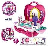 #10: AKSH Girls Bring Along Beauty Suitcase Makeup Vanity Toy Set