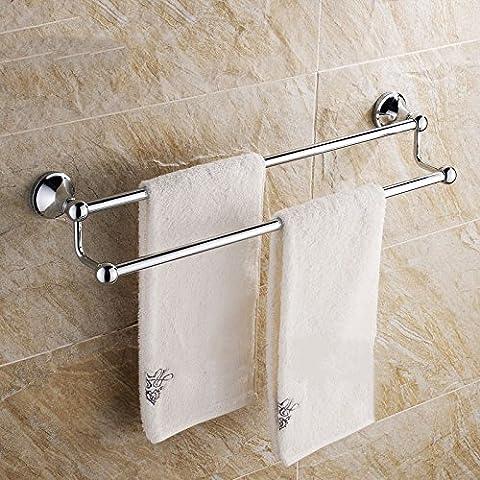 JiSuQiCheFuWu bar salle de bains sèche-serviettes en acier inoxydable support serviette sèche-serviettes porte-serviettes double levier unique serviette de toilette cintre tige tige pendaison pendaison pièce Barre de serviette