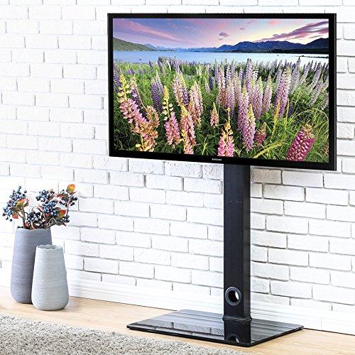 Mount 40 Tv-swivel (Fitueyes universal TV Bodenständer Glas für 32 bis 50 Zoll LED LCD TV höhenverstellbar schwenkbar schwarz TT106001MB)