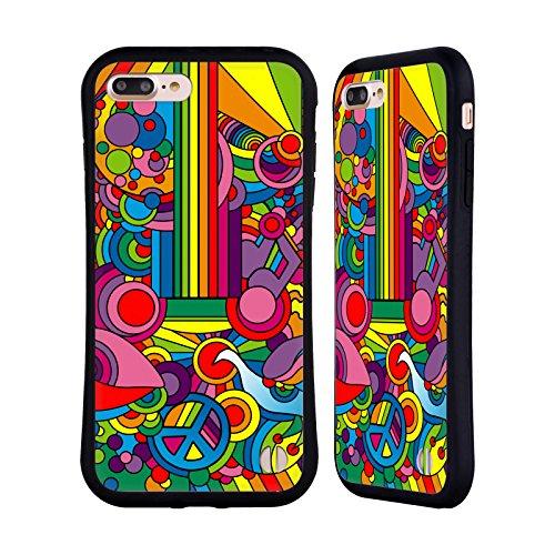 Ufficiale Howie Green Fiori Acqua Pattern Case Ibrida per Apple iPhone 7 / iPhone 8 Pop Art Chitarra Motivo 916