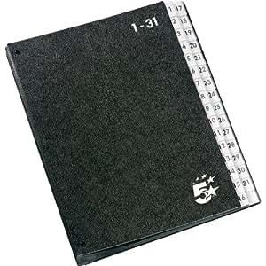 Classeur trieur 1-31 noir (5Star)
