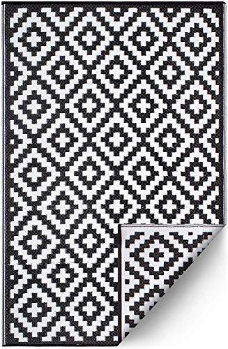 Ambientair R120180NEA Alfombra Exterior, Negra, 120 x 180 cm