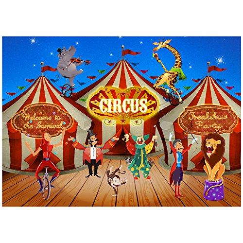 Musykrafties Großer Hintergrund für Karneval Zirkus Banner Szene Setters Fotografie Hintergrund 152 x 2,1 m