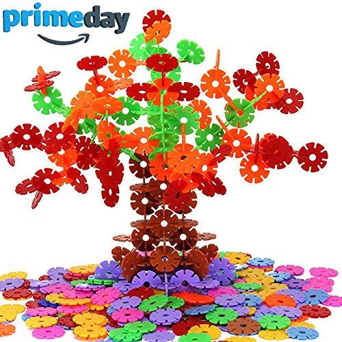 Genießen 400 Stücke Mehrfarbige Schneeflocken Set Interlocking Ungiftig Kunststoff für Kinder