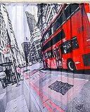 Kamaca Duschvorhang London/England / Great Britain, sanft fallender Duschvorhang bereits inkl. 12 x Ösen, in schöner Geschenk - Packung, Duschvorhang mit tollem Motiv - 100% Polyester