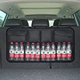 Hete-supply - Rangement pour coffre de voiture, Organiseur Multi Poche pour siège arrière de voiture avec sangles réglables - tissu étanche Oxford, Velcro