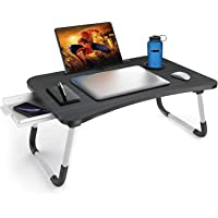 Callas Multipurpose Foldable Laptop Table with Cup Holder, Study Table, Bed Table, Breakfast Table, Foldable and…