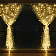 String lights for Window Curtain, 3M 304 LED Fairy Twinkle Starry Decorative Light for Indoor Outdoor Wedding Christmas Home