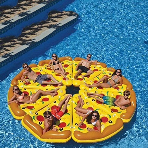 DMGF Inflables Pool Float Raft Pizza Shape Loungers Giant Summer Flotadores De...