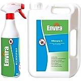 Envira Milben-Spray I Anti-Milben-Mittel Mit Langzeitwirkung I Geruchlos & Auf Wasserbasis I 500 ml & 2 Liter