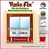Vario-Fix Standard Haltebügel für 15cm Blumenkasten mit 90cm Spannstange