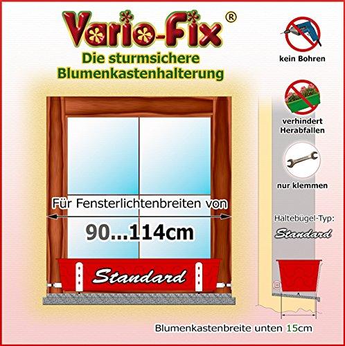 Vario-Fix Standard Haltebügel für 15cm Blumenkasten mit 90cm Spannstange -