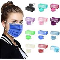 TEGT 50 Pcs Couleur Unie Adulte Masque Jetable - Respirant - Anti-Poussière Respirable Earloop Bouche Masque De Visage…