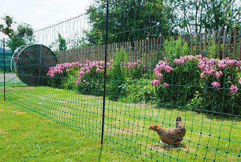 Hühnerzaun, Netz, länge 50 m, höhe 1,12 m, - 3