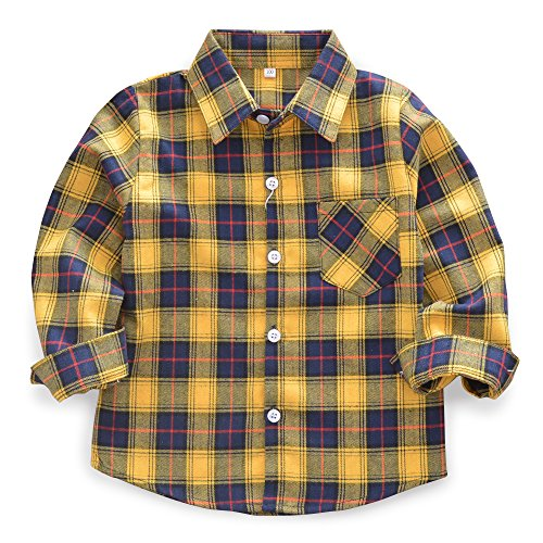 Ochenta - camicia - vestito modellante - a quadri - maniche lunghe - ragazzo e010 110 cm