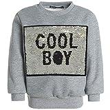 BEZLIT Jungen Pullover Wende Pailletten Sweatshirt Sweater Pulli 21455, Farbe:Grau, Größe:128