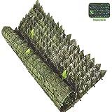 Palucart siepe artificiale 1x3 m per balcone edera 100x300 cm siepe sintetica (1)