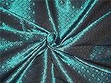 Brokat-Stoff Blaugrün Grün Farbe Muster, 111,8cm