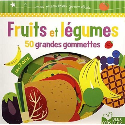Fruits et légumes - 50 grandes gommettes