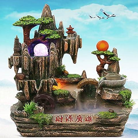 MYM Decorazione tavoli resina degli arredi ufficio acqua fontana regali casa aperto fortunato giardino roccioso (Tavolo Cornucopia)
