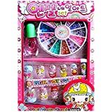 Oytra Nail Art Kit with 12 Artificial Nails with Tools and Glitters for Girls (4-10 Years) (Random Cute Nail Designs)