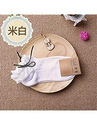Lady socks Puntilla Calcetines Calcetines Calcetines de Mujeres niñas Barco, m Blanco