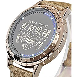 Sunkee New Tokyo Ghoul LED Touchscreen Electronic clock Waterproof cosplay watch