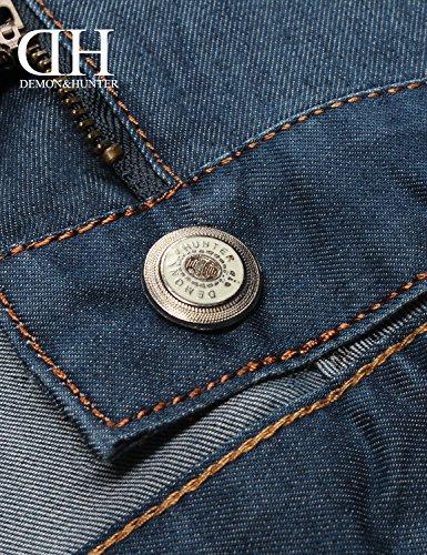 ... Demon and Hunter 806 Serie Herren Regulär Gerade geschnitten Jeanshose  Jeans DH8105U x Blau x Dünn ...