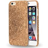 iPhone 6 6s Kork Hülle Handyhülle von NALIA, Natur-Holz Look Handy-Tasche Case Dünnes Ultra-Slim Hardcase Schutzhülle Etui Back-Cover Phone Bumper für Apple i-Phone 6s 6, Designs:Cork Mandala