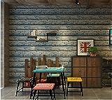 Yosot Board Wirkung Non Woven - Tapete Antique Bar Coffee Shop Arbeitszimmer Hintergrund Tapete Blaue Textur