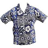 Chemise Hawaïenne Modern Tapa - L, Bleu d'occasion  Livré partout en France