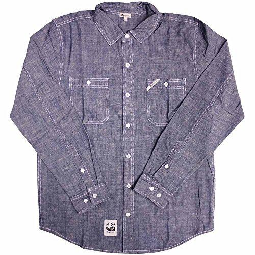 LRG Core Collection Long Sleeve Work Shirt Blue -