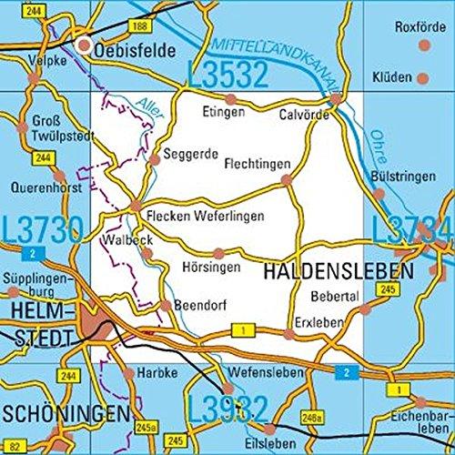 L3732 Helmstedt Topographische Karte 1:50000: DTK50 SAchsen-Anhalt
