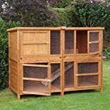6ft Chartwell Double Guinea Pig Rabbit Hutch | Perfect Outdoor & Indoor Rabbit Hutch for 2 Rabbits Or Guinea Pigs | The Biggest Hutch On Amazon