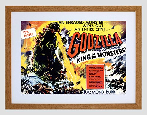 FILM GODZILLA PULP MONSTER HORROR THRILLER JAPAN BURR KING ART PRINT - Film-monster-spielzeug