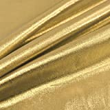 Metallic glänzend gold Folie Lame Tricot Craft Kleid Decor