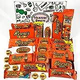 Großer Amerikanische Reeses Schokolade Geschenkkorb | | Peanut Butter und Schokolade | Peanut Butter Cups, Pieces, Sticks, Nut Bars, Miniatures | 25 Produkte in einer tollen retro Geschenkebox