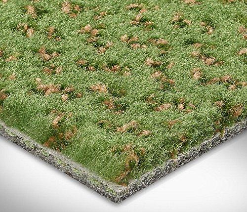 Vorwerk Premium gemusterter Velours-Teppichboden Auslegeware 7426771755674 hellgrün - 4m breit