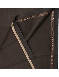 Raymond Men's Unstitched PV Suit Fabric (GANU0534-3M, Brown, 3M)
