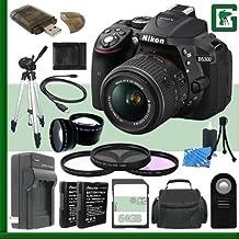 Nikon D5300 CMOS DSLR Camera With 18-55mm VR II Lens (Black) + 64GB Green's Camera Bundle 3