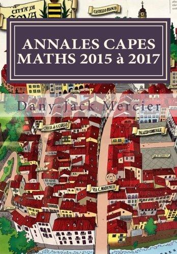 ANNALES CAPES MATHS 2015 à 2017