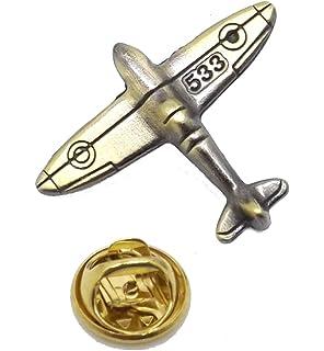 Grande Bretagne WW2 Spitfire Guerre Avion English /Étain Boutons de Manchette Cadeau CUFFLINKS DIRECT