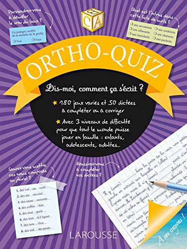 Ortho Quiz- Cahier de vacances