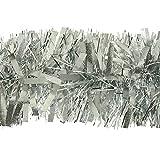 kraftz® 5PCS geschoben Silber Lametta 2m (Signalübertragung) X 11cm Deluxe Dick Chunky breit glänzend Glitter Weihnachtsbaum Lametta Girlande für Geburtstag Hochzeit Festival mit Prägung Dekoration