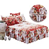Queen Bed Skirt Wrap Around Bed Ruffle Easy Care Bed Sheet Bed Skirt,Good Breathability | Soft | Thin And Lightweight New Bedspread Queen Bed Skirt