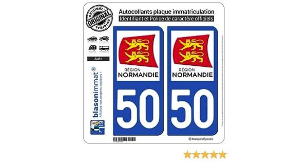 27 Normandie LogoType 2 Stickers autocollant plaque immatriculation