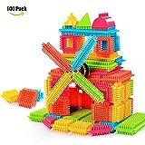 NEEDOON 100pcs Kleinkind Spielzeug Kunststoff Konstruktions Bausteine für Kinder Kreatives Spielzeug