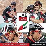 VeloChampion Warp Cycling Sunglasses Running Shooting Sports Glasses - Red Bild 5