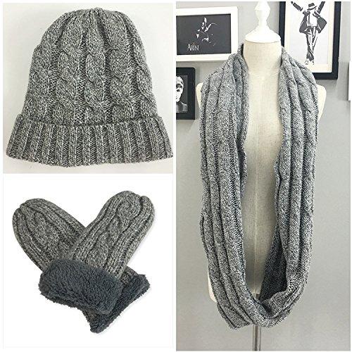 ütze Schal Und Handschuh Set/Herren Hut Schal Und Handschuh Set / 3 In 1 Geschenkset ()