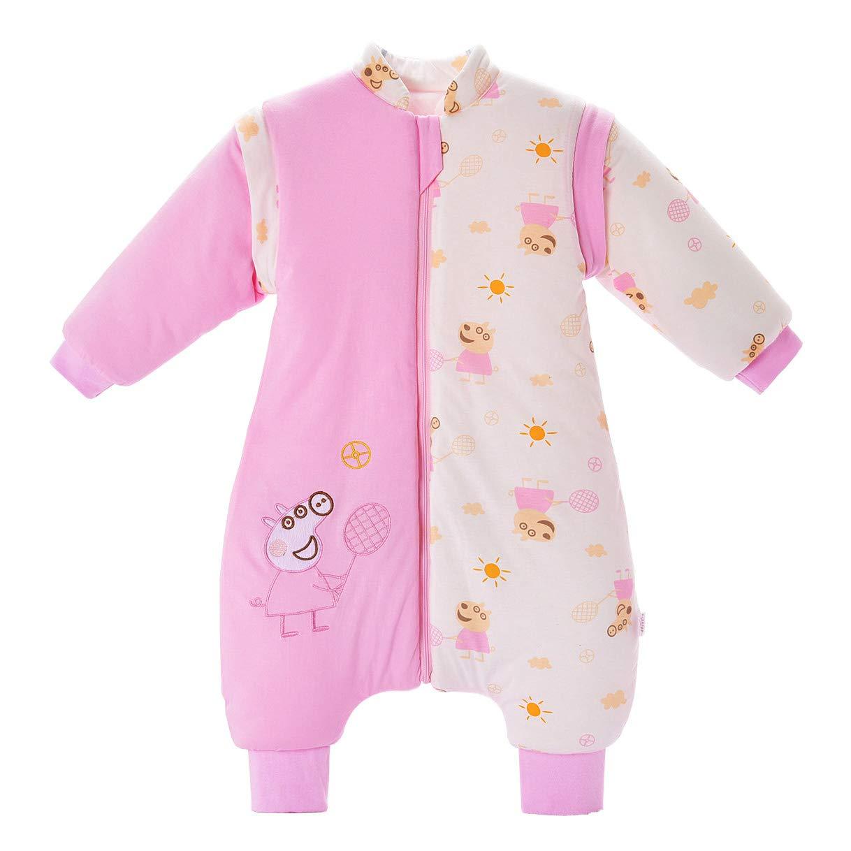 Saco de dormir para bebé con pies, para invierno, grueso, antigiro, saco de dormir para bebé, 3,5 tog, azul Polar bear Talla:M/Größe: 70cm (0-12 Monate)